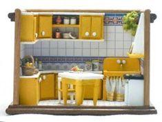 yellow kitchen Francesca Vernuccio 144th miniatures.