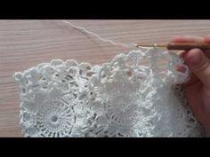 Vestido Glamour Parte 1/2 veste do 40 ao 42 By Rhosangela crochê Oliveira - YouTube Crochet Curtains, Crochet Skirts, Crochet Clothes, Crochet Squares, Crochet Stitches, Crochet Patterns, Irish Crochet, Crochet Baby, Crochet Top
