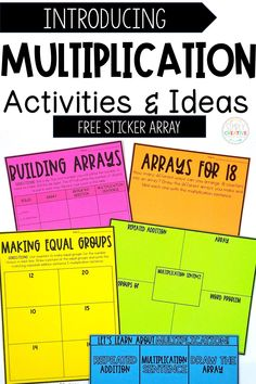 Introduce multiplication to your 2nd or 3rd grader with these fun and engaging learning activities! Get tips & tricks on how to introduce equal groups and arrays to your students. They will love to use froot loops, beads, or other manipulatives for one lesson! Read all about how to incorporate anchor charts, worksheets, activities, games, and MORE on this new blog post. Then get your FREE sticker array worksheet to get started teaching your 2nd/3rd grader all about multiplication.