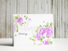 Happy Wedding card with Altenew stamps set Vintage Roses