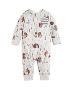 Angel Dear Infant Boys' Happy Camper Coverall - Sizes 0-12 Months