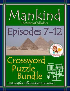 Tons of fun materials to go with the last 6 episodes of Mankind the Story of All of Us! Includes basic & advanced puzzles for every episode, word bank options for differentiation, and brainstorming/memory worksheets, plus complete answer keys! NO PREP, JUST PRINT AND GO! #mankindthestoryofallofus #historypuzzles #historychannel #worldhistory #chinesehistory #europeanhistory #aztecs #columbus #tajmahal #pilgrims #slavery #revolutions #civilwar #wwii #industrialrevolution #civilright…