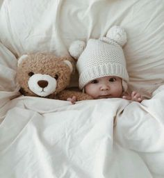 two little bears in bed