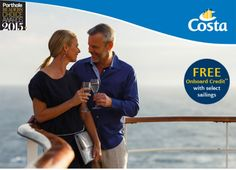 Book #Costa at http://www.gobooktrips.com #Cruises from $56 pp* per day + #FREE #onboard #credit with select #sailings