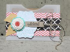 This is an adorable gift card holder. Check it out on Stampin' Up!'s blog.