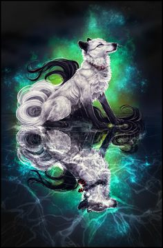 Galaxyheart, male, no mate or pups. Has the power of the stars, and can do very powerful spells. He is very kind and strong. He has a crush on Shard.