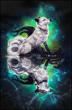 .:Galaxy Wolves:. by =WhiteSpiritWolf