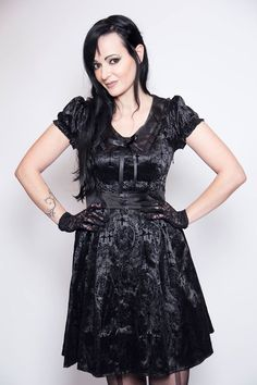 """And here is a small photoshoot which dragonfly did wearing the prize she won in the Banned Christmas competition, """"this dress is awsome . I luv it heart emoticon"""" #BannedApparel & #Dragonfly"""