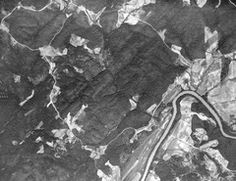 1938 Aerial View of Big A Road, Bear Creek at Chattahoochee, Fout's Mill Rd.