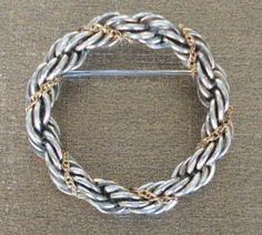 Vintage Tiffany & Co. Brooch ~ Silver and Gold Twisted Rope Design