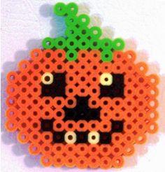 perler+pumpkins | pumpkin made out of perler beads