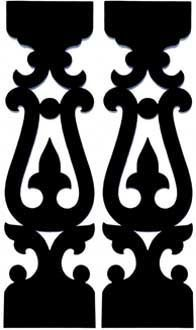Victorian Gingerbread Turned Balusters, Sawn Balusters, Porch Rails, Porch Posts from Empire Woodworks - Victorian Gingerbread Woodwork Victorian Porch, Vintage Porch, Porch Balusters, Railings, Porch Brackets, Cnc Cutting Design, Scroll Saw Patterns Free, Cardboard Sculpture, Porch Posts