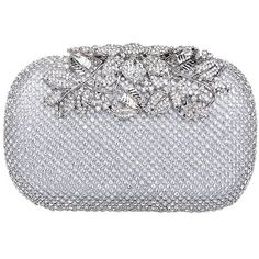 Fawziya Flower Purses With Rhinestones Crystal Evening Clutch Bags ($33) ❤ liked on Polyvore featuring bags, handbags, clutches, man bag, rhinestone clutches, crystal clutches, rhinestone purses and handbags purses