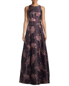 885b655870b5 Aidan Mattox Sleeveless Brocade Ball Gown. Find this Pin and more on  Products by Neiman Marcus.