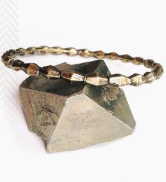 Brass Bolt Bangle Bracelet by Robbie Simon Jewelry on Scoutmob