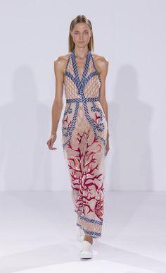 Long Coral Dress