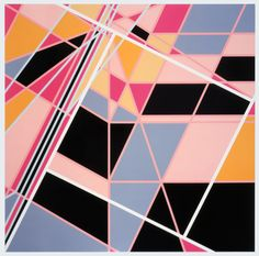 Sarah Morris Painting Pools Monaco Abstract Geometric Art