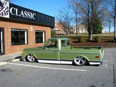 Green C/10 truck