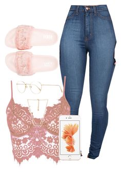 """5.6.16"" by xoadiraxo on Polyvore featuring Puma, WithChic, Forever 21 and Oliver Peoples"