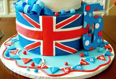 British theme birthday cake