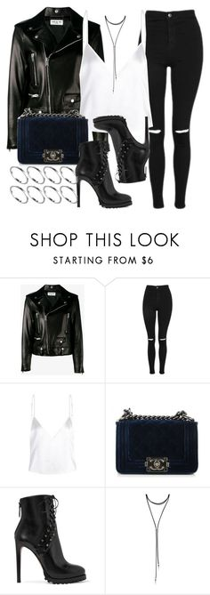 """""""Style #11341"""" by vany-alvarado ❤ liked on Polyvore featuring Yves Saint Laurent, Topshop, Chanel, Alaïa, Forever 21 and ASOS"""