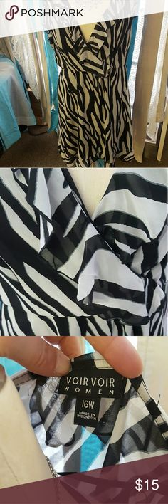 Zebra stripe dress Amazing condition, no stains or holes.    BUNDLE AND SAVE ON SHIPPING!  I OFFER 20% OFF ANY 2 ITEMS OR MORE IN MY CLOSET! Voir Voir Dresses Midi