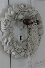 rose garland wreath door hanger