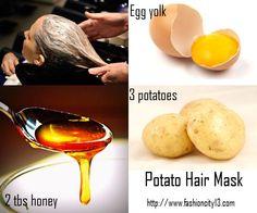 Potato homemade hair mask recipe and direction