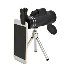 40X60 Focus Zoom Portable Travelling Hiking Monocular Telescopes Phone Camera  Description: Type:Phone Telescope Main Color:Black Material:ABS and Optical Lens Prism Material:BAK4 Magnification:40X Eye Lens Diameter: 18mm Objective Diameter:42mm Exit pupil distance:12.5(mm) Exit Pupil Diameter:4.5cm Field of view:6.8 Coating:FMC Multi-layer Coating(Green Film) Resolution :257m / 1000m Telescope Dimensions:approx.7X3cm Features: 100% brand new. Compact and lightweightpractical and durable…
