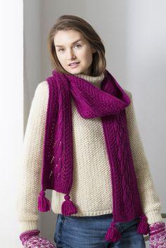 Novita scarf patterns, scarf made with Novita Nordic Wool yarn #novitaknits #knitting #knits https://www.novitaknits.com/en