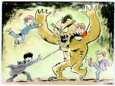 Goonies vs the Bog Monster!