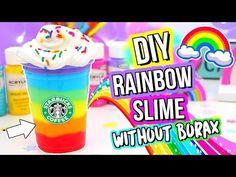 DIY Rainbow Slime! BEST Slime Recipe WITHOUT Borax! - YouTube