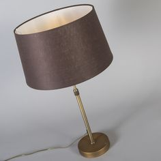 Table Lamp Parte Bronze with Brown Shade Bronze, Brown Shades, Designer, Cow, Table Lamp, Modern, Home Decor, Dinning Table Set, Classic