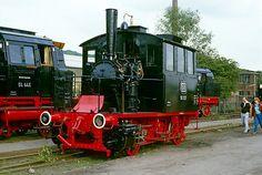 'Steam locomotives at Bochum, by David A. Railway Museum, Rail Car, Christmas Train, Old Trains, Water Tower, Steam Engine, Steam Locomotive, Train Tracks, Diesel Engine