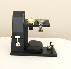 IPhone-Ständer mit Mens Valet Männer Watch Halter-Men Watch