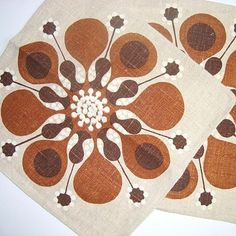 Swedish retro napkins. #retro #napkins #retronapkins #retroservietter #retrotekstil SOLGT/SOLD on www.TRENDYenser.com.