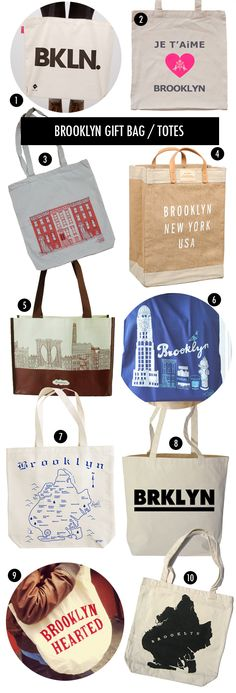 out of town brooklyn themed gift bags | | welcome bags | this got me thinking, maybe we have Our Map printed on the welcome totes?