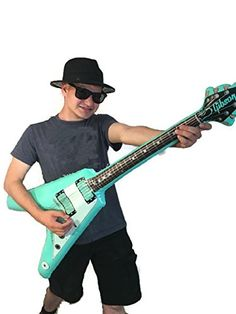 Halloween Gangsta Hat Bundle Green Air Electric Guitar Wayfarer Sunglasse Costume -- Check this awesome product by going to the link at the image.