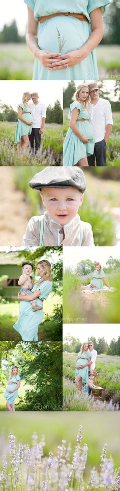Family maternity session in lavender field. Emily Krbec Photography