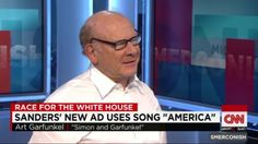 "Art Garfunkel tells Smerconish about allowing Bernie Sanders' campaign to use Simon & Garfunkel's ""America"" for a campaign ad."