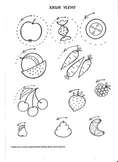 klikni pro další 31/384 Health Activities, Activities For Kids, Embroidery Applique, Fine Motor, Struktura, Coloring Pages, Diy And Crafts, Education, Fruit