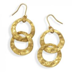 MMA Silver - Gold Plated Double Circle Drop Fashion Earrings MMA Silver. $28.00