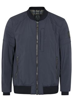 Belstaff navy shell bomber jacket