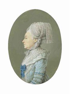 Profile portrait of a woman, French School, 18th Century