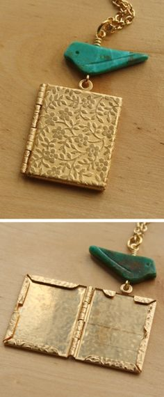 Vine Book Locket