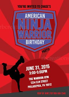 American Ninja Warrior Digital Birthday Party by rbcreation