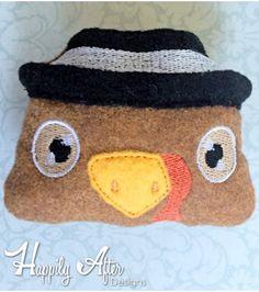 Turkey Stuffie Head Embroidery Design