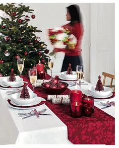 The Christmas Table # Christmas, lay, table, decorate, red