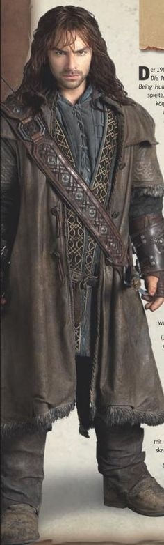 Thing across chest is is quiver. Probably won't make this right now. More detail on coat.