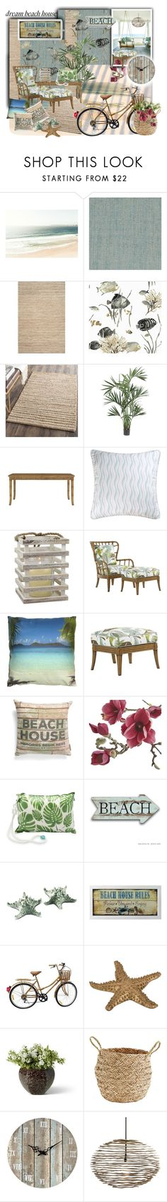 """Soñada Casa de Playa"" by silviaracchi ❤ liked on Polyvore featuring interior, interiors, interior design, home, home decor, interior decorating, DutchCrafters, Safavieh, Nearly Natural and Tommy Bahama"
